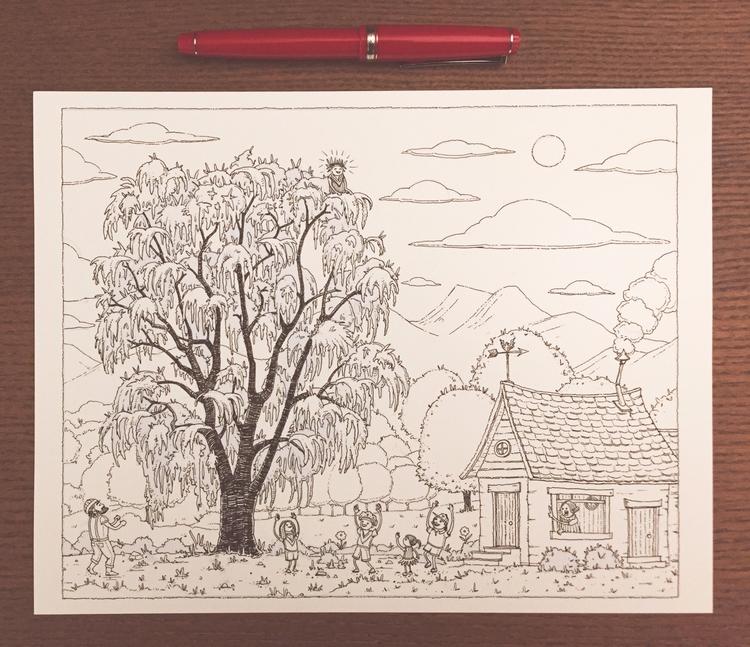 drawings life color start Drawn - junkyardsam | ello