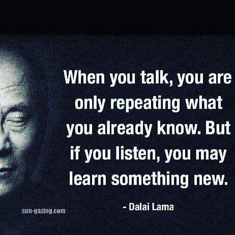 DalaiLama, Talking, Listening - vicsimon | ello