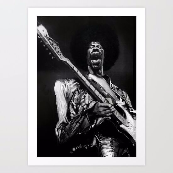 great Hendrix digital painting  - babakesmaeli | ello