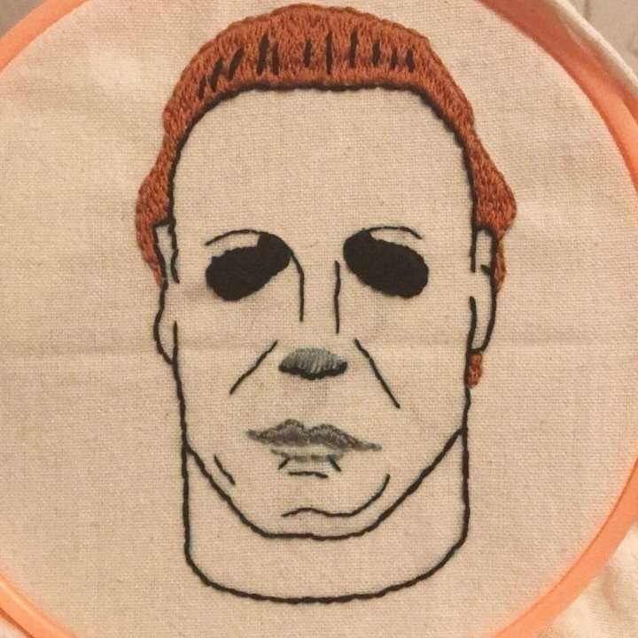 Michael Myers Embroidered Linen - snockardchanning | ello