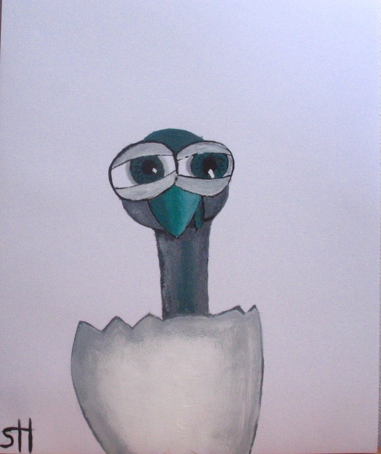 Baby Eye-bird (oil Canvas - oneroses | ello