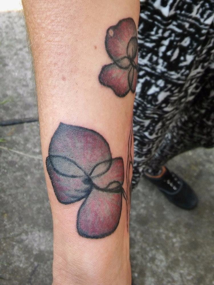 orchidtatto, tattoo, tattooart - ernaart   ello