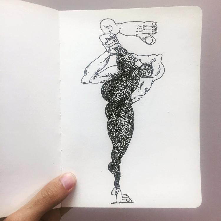 Inktober 2017 / Day 20 ___ flow - babakesmaeli | ello