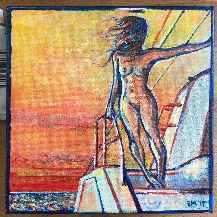 Evening Lady • acrylic 6 - erycmoss | ello