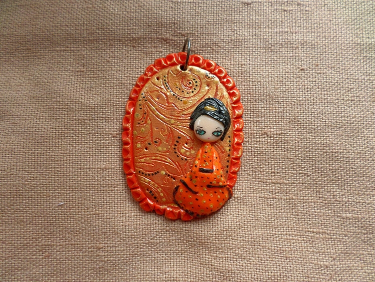 Orange Geisha Jewelry - geisha, orange - thefluffandpurr | ello