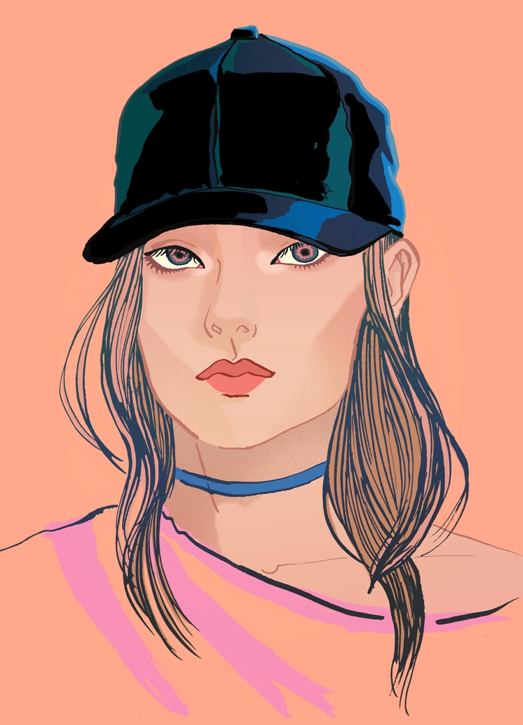 Girl cap - Newportrait, Fashionillustration - eunjeongyoo   ello