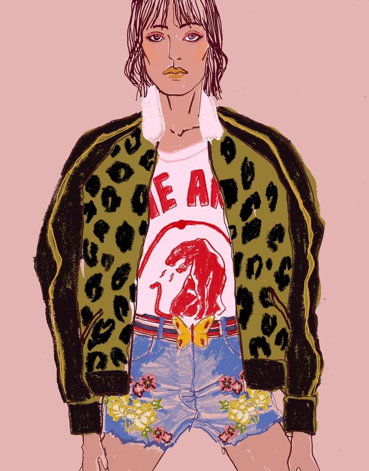 Gucci girl - Fashionillustration - eunjeongyoo | ello