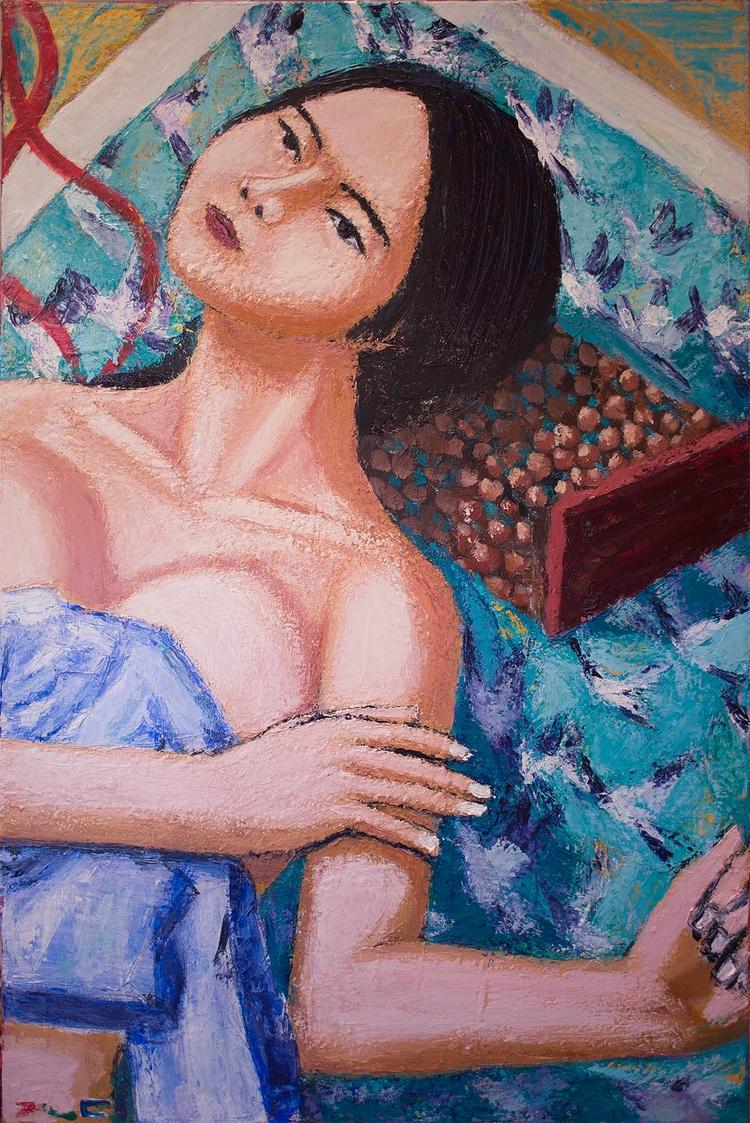 Korean Girl Acrylic canvas, 36  - chunbumpark | ello