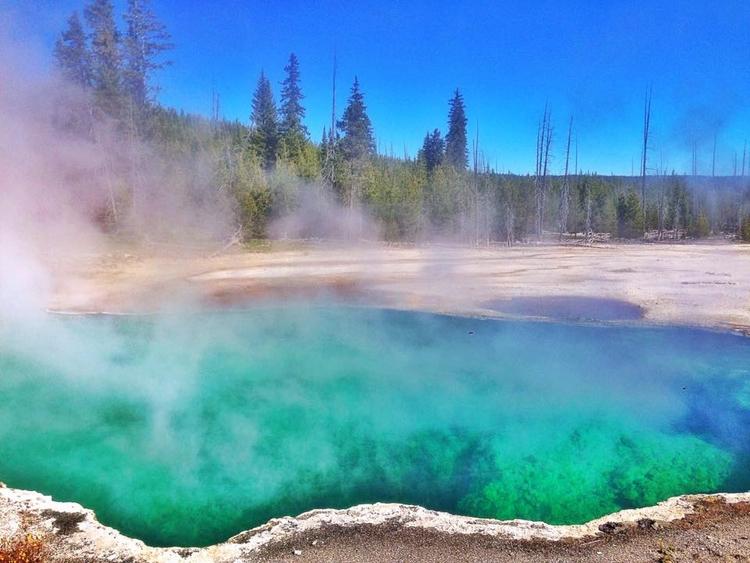 Abyss Pool, Yellowstone - travel - davidjdeal   ello