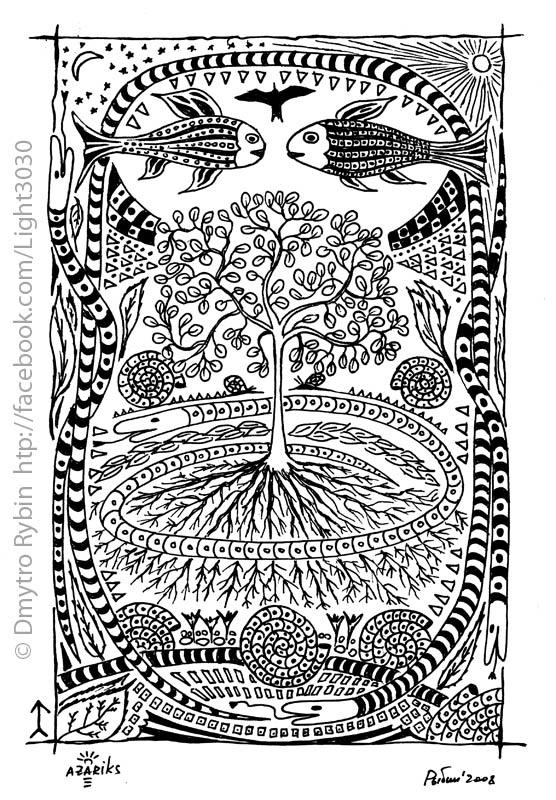 Tree life - mandala, tree, snake - dmytroua | ello