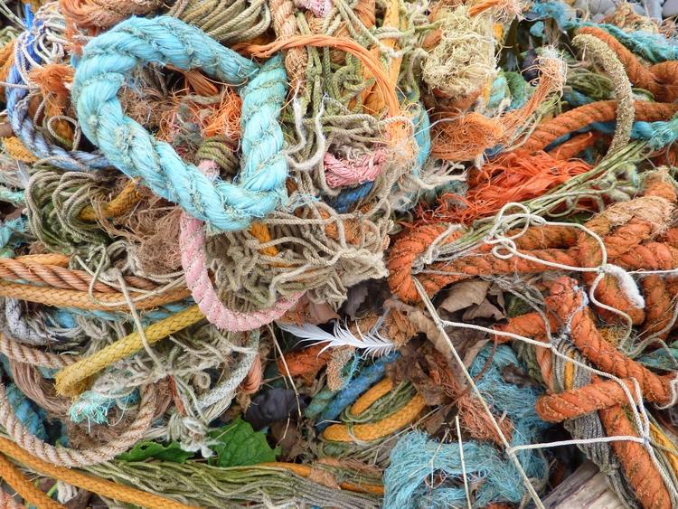 Tangle discarded fishing ropes  - firehorsetextiles | ello