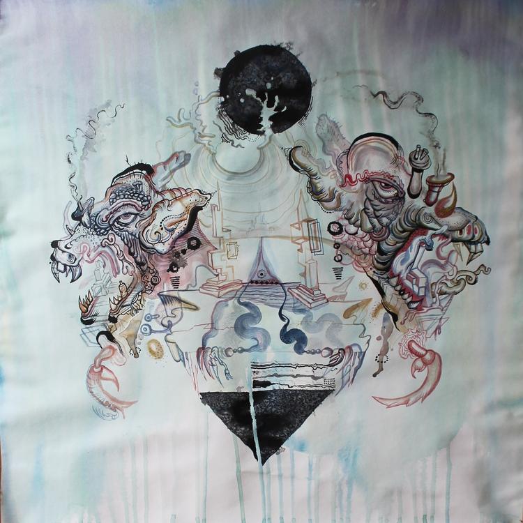 Duality , aquarelle paper, 80cm - kobaia-design | ello