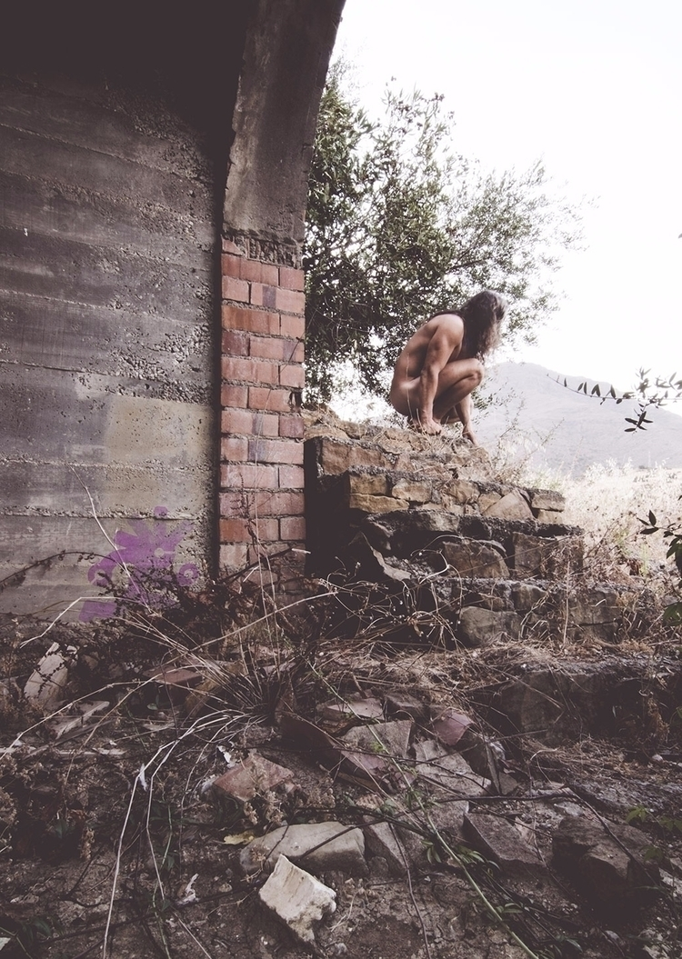 rock stairs - selfportrait, pool - natxodiego | ello
