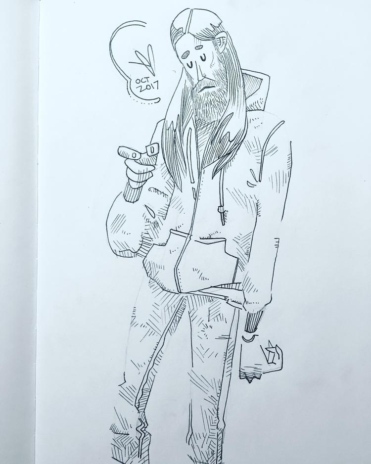 Tune Drop - character, beard, hippie - evandileo | ello
