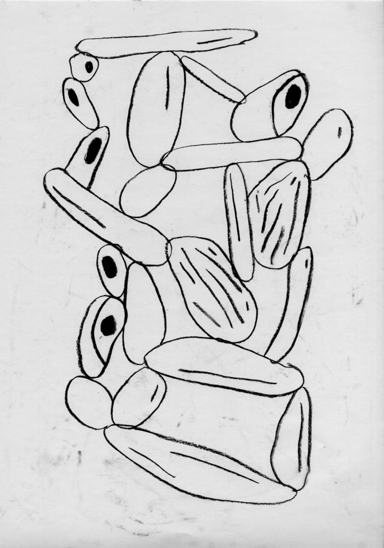 Des cailloux empillés - illustration - camillefoucou | ello