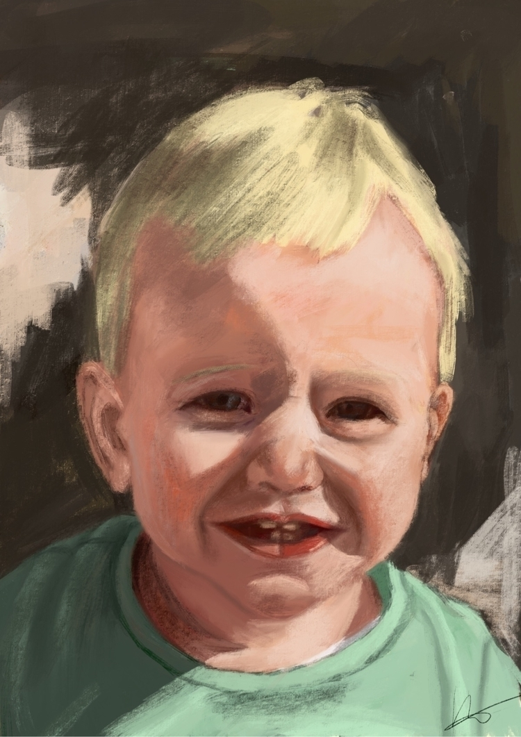 Digital portrait Ipad Pro Apple - marjon-4891 | ello