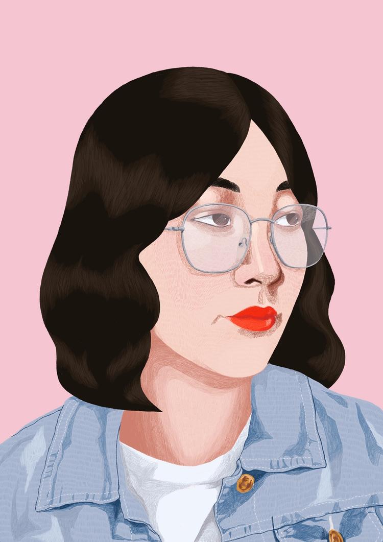 Love - Design, Portrait, Pastel - jerold | ello