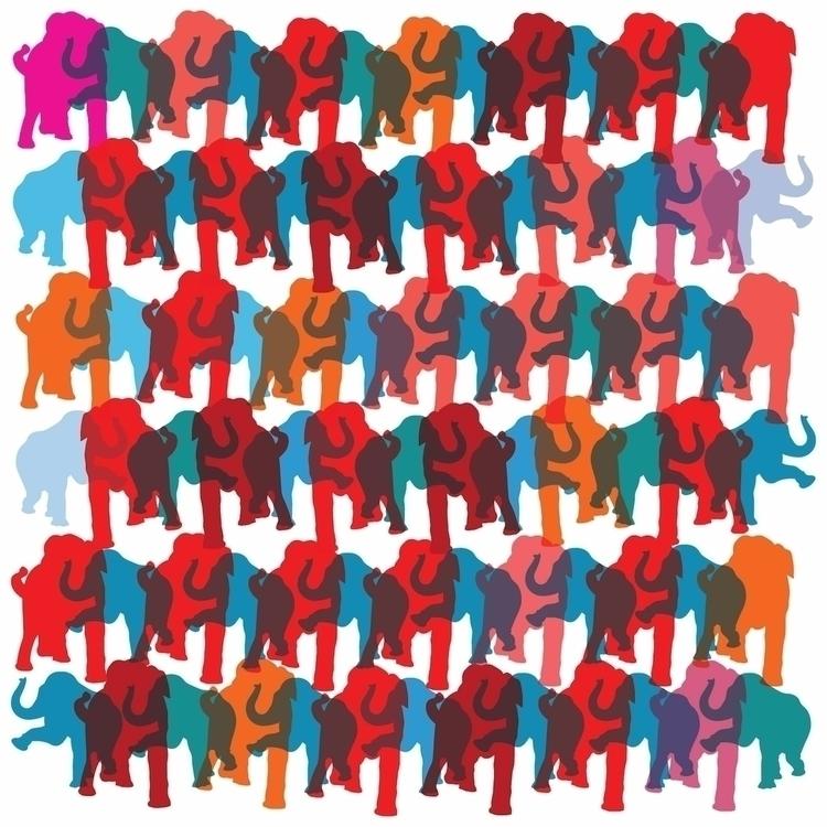 Elephants dance design sandroma - sandromartini | ello