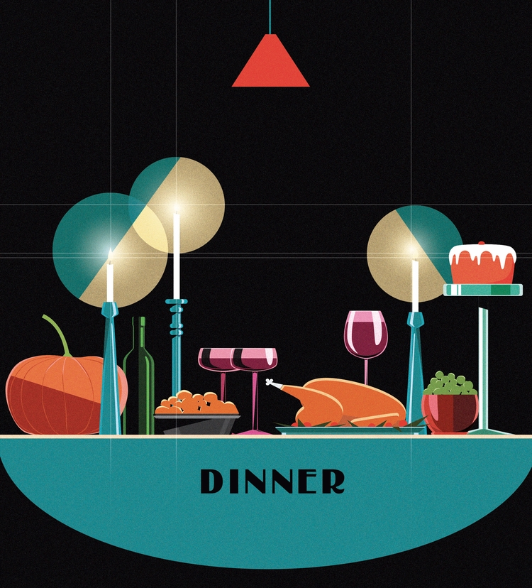 Food illustration - vector, food - mathildaholmqvist | ello