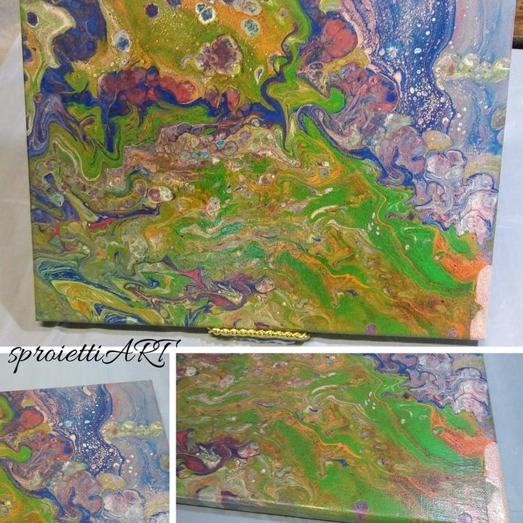 abstract, art, acrylic, ink, fluid - sproiettiart | ello