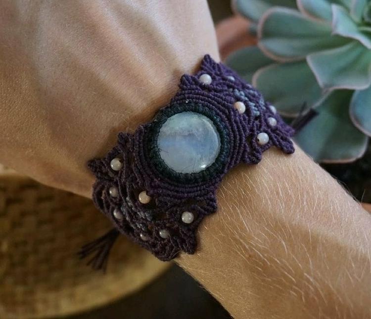 lovely ethereal Moonstone brace - spirityouarmor | ello