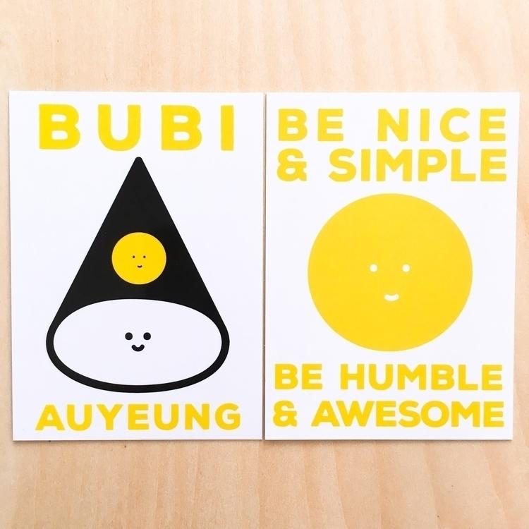 Newly printed namecard reminder - bubi | ello