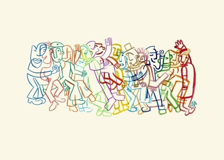 Hussle - drawing, watercolors, play - dilruba | ello