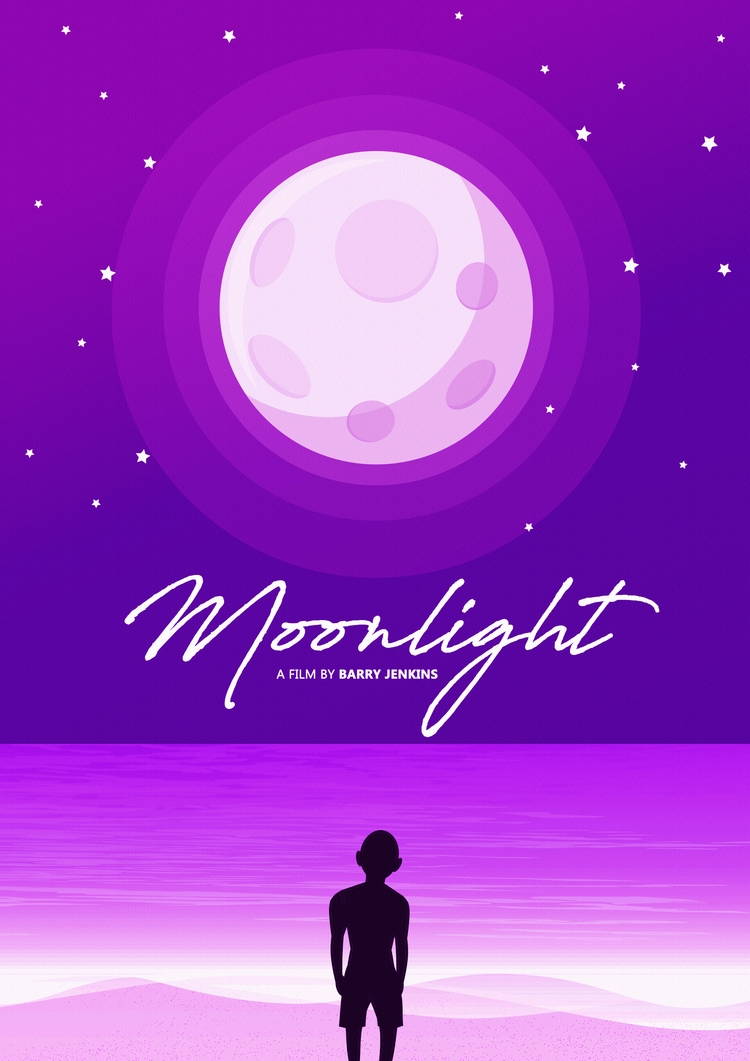 moonlight, movieposter - thebdesign | ello
