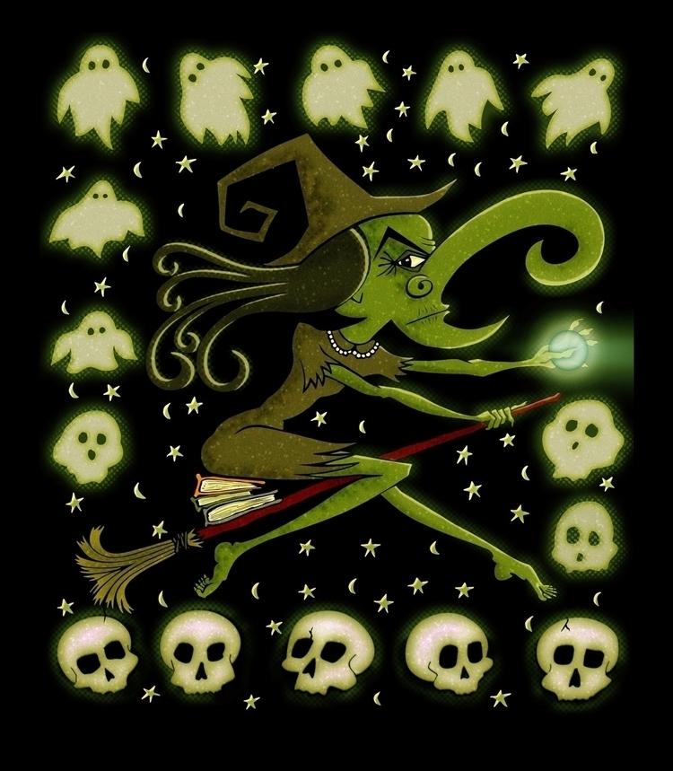 Halloween Witch - illustration, halloween - johnjgriffiths | ello