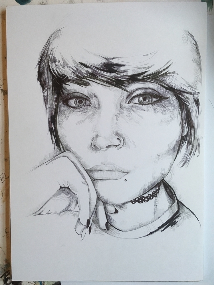 Drew picture friend biro - art, artwork - jordansummers | ello