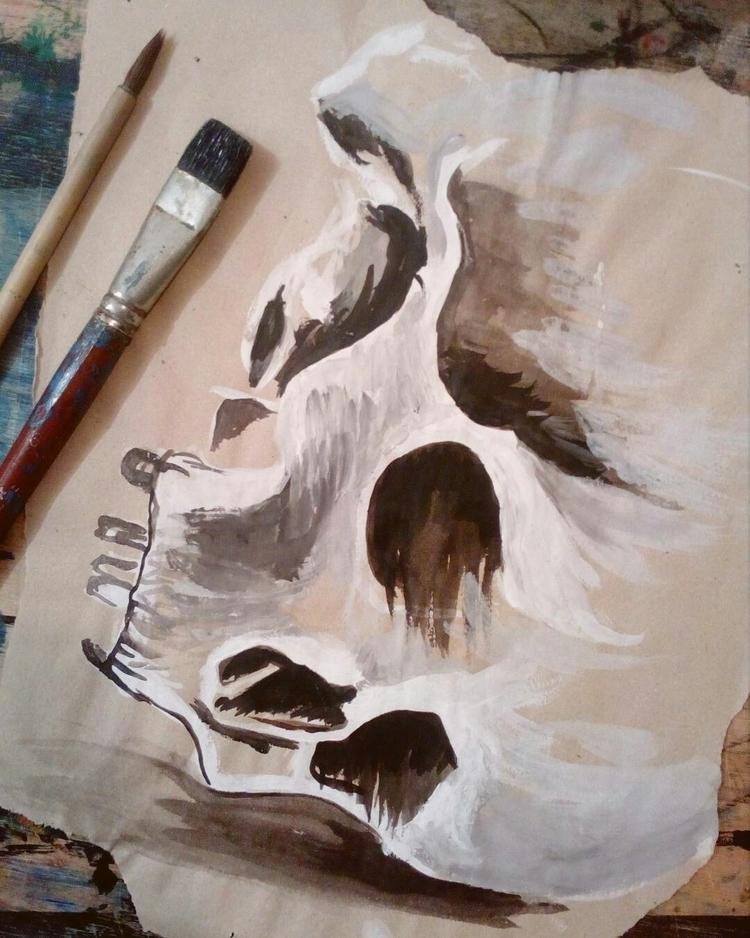 painting - skull, art - ernaart | ello
