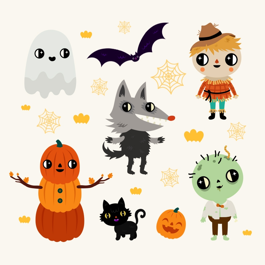 Nick Jr. Generic Halloween Char - muxxi | ello