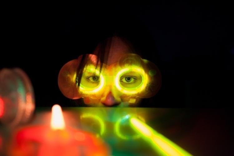 halloween, glowsticks, aesthetic - ryna   ello