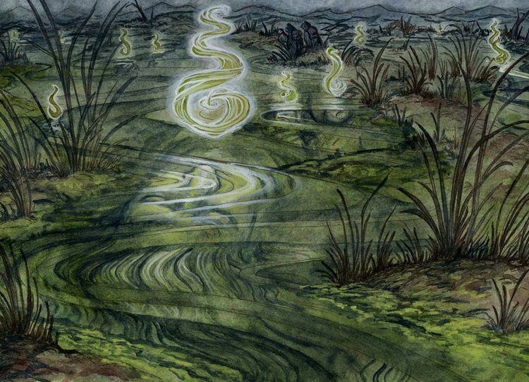 Dead Marshes ink, watercolor, g - rachelquinlan | ello