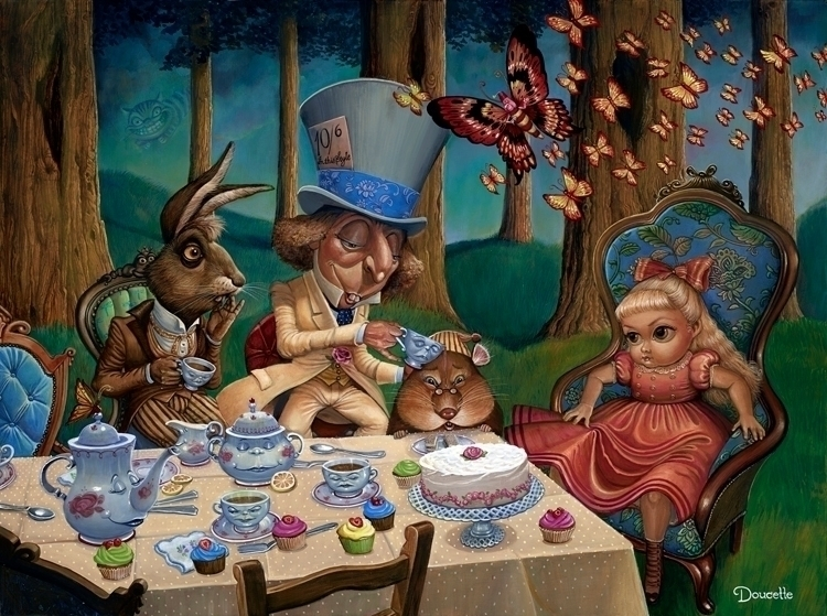 Bob Doucette MAD TEA PARTY 30X4 - toboland | ello