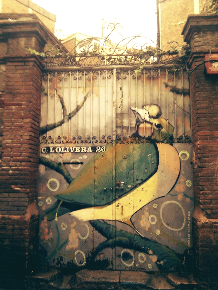 bcn, graffiti, poblesec - this_game_has_no_name | ello
