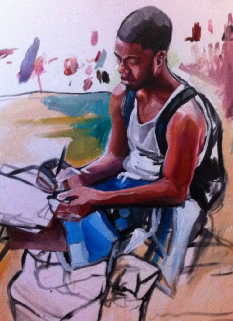 Jordnell Sketching Acrylic canv - darlanorma | ello