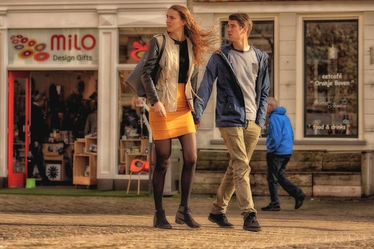 Orange Dutch carry Upstairs - artmen   ello