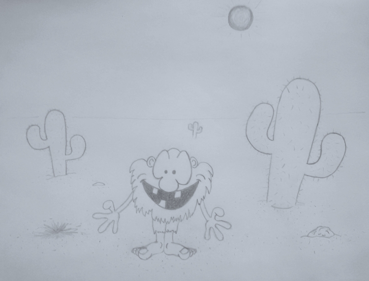 Native Cactus Dweller - drawing - kut-n-paste | ello