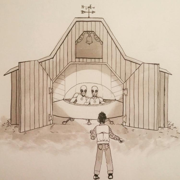 Inktober 2017 -day twenty barn - tannerzaharis | ello