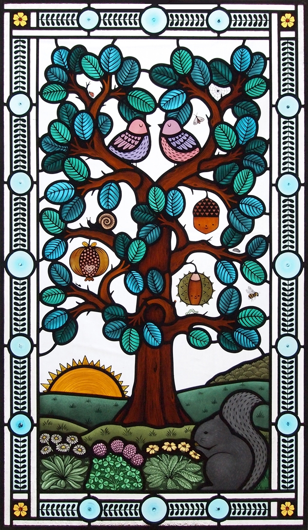 Tree Life stained glass window  - florajamieson | ello