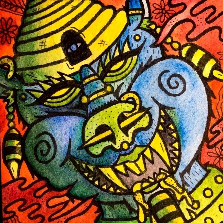 Queen bees - illustration, art, characterdesign - nathan_doverspike | ello