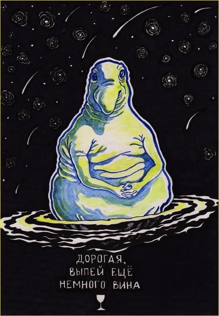 Zhdun1 - illustration, giftcard - zhenyayanovich | ello