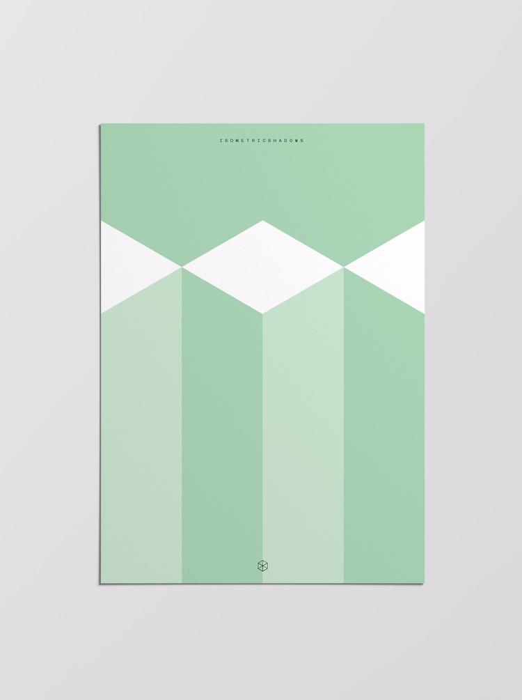 Isometric Shadows Poster - poster - miquelllobet | ello