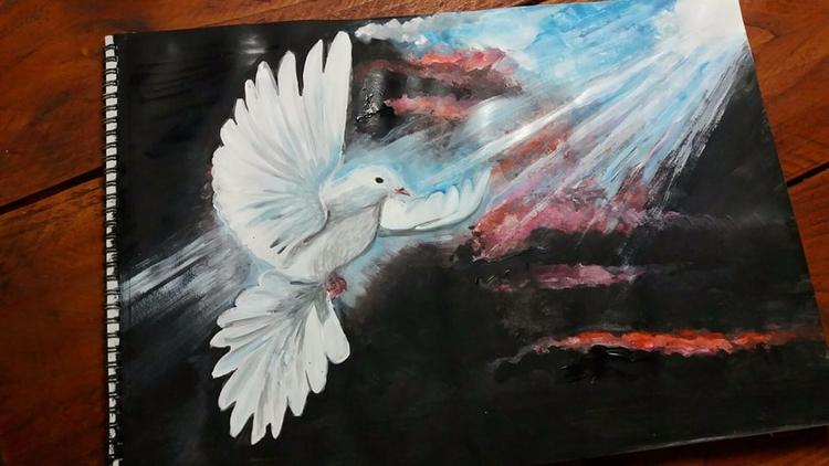 cleoart, art, acrylic, Holy, spirit - cleoart | ello