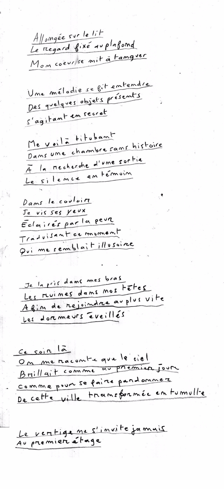 poem, handwriting, french - camillefoucou | ello