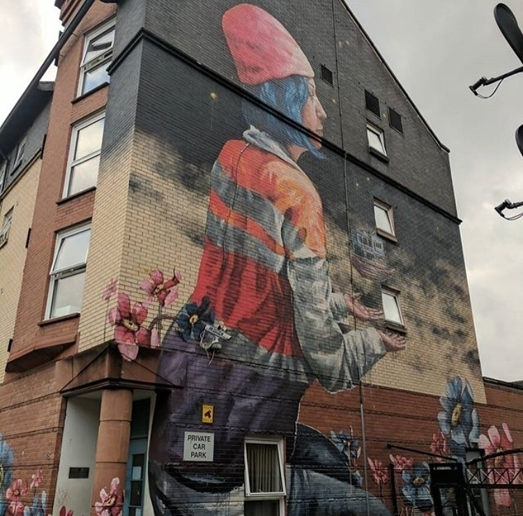 Repost - streetart, mural, glasgow - bitfactory   ello