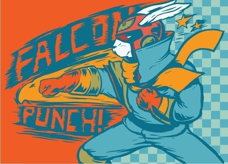 Falcon Punch - illustration - thomcat23   ello