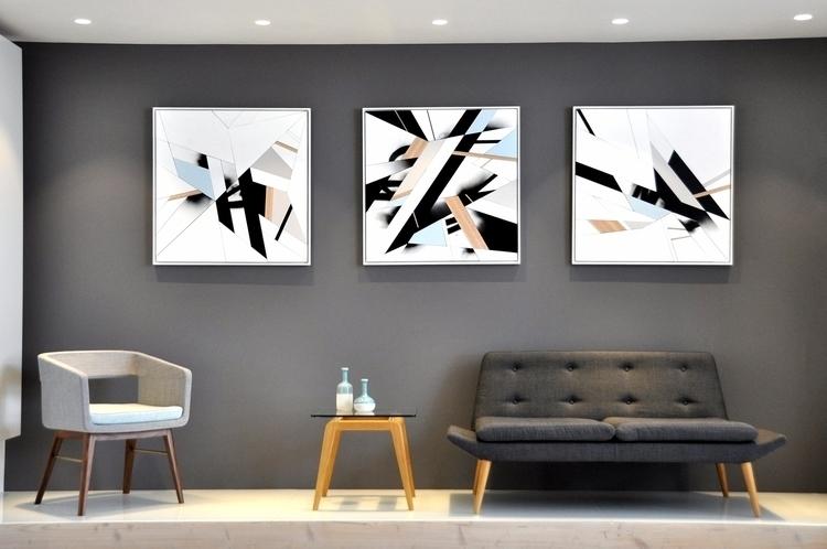 'Surface Tension' Triptych - wo - markmcclurestudio | ello