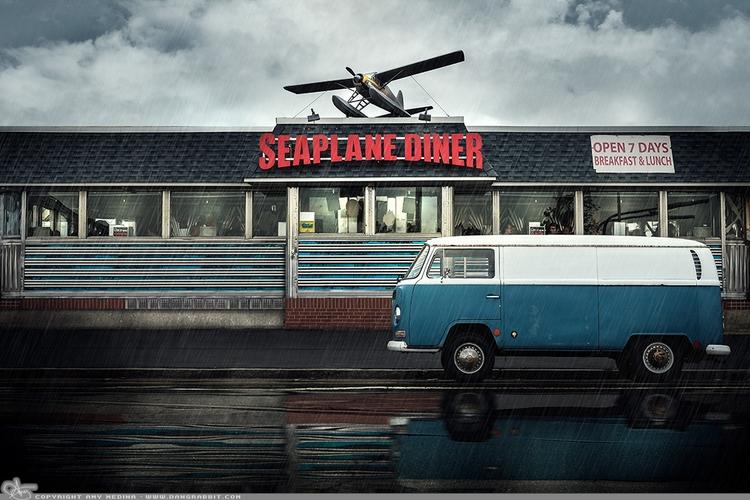 Seaplane Diner coolest place - photography - dangrabbit-photography | ello